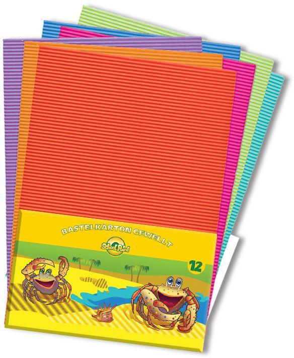 Набор цветной бумаги А3 12л. картон гофр. 2001801